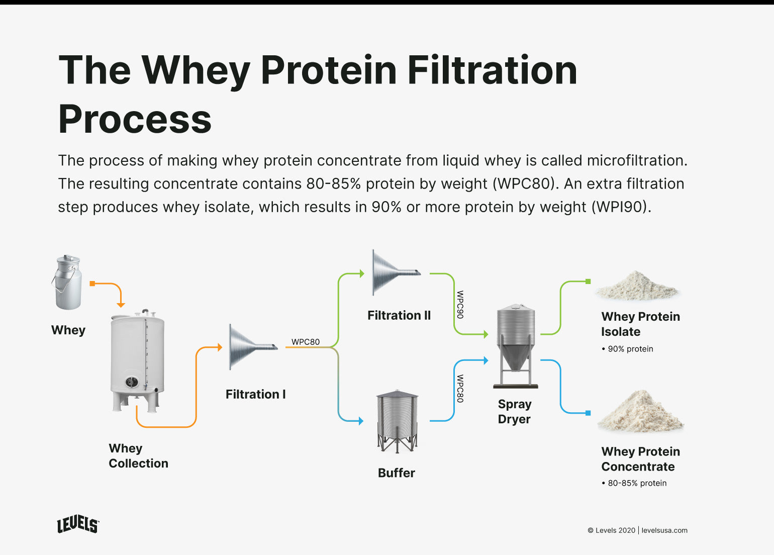 Whey Protein Filtration Process - Infographic