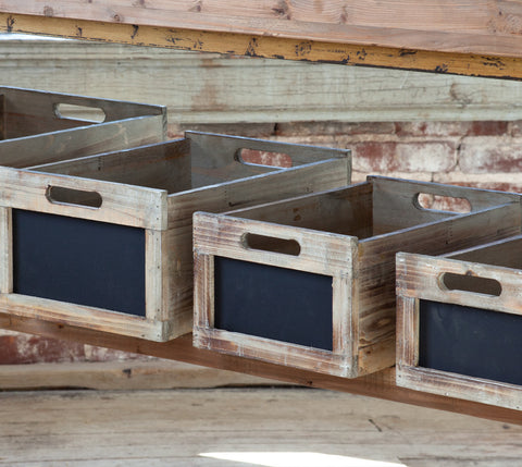 Chalk Board Crates