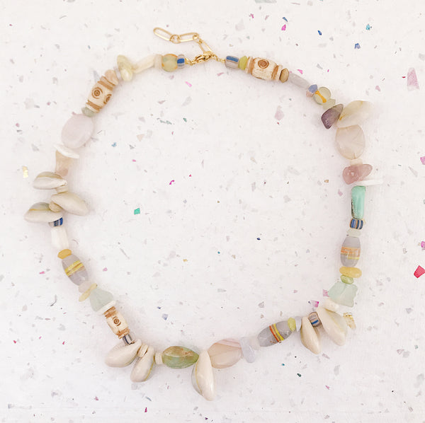 Beach cocktail Necklace pastel