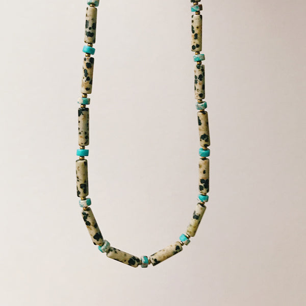Dalmatian Necklace (gold filled)