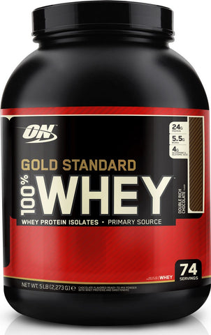 54f53ab91f18 Gold Standard 100% Whey Protein-Optimum Nutrition-5LB-Double Rich Chocolate  -