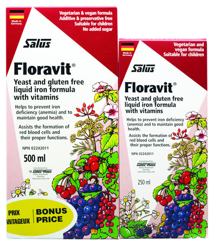 Floravit® (Yeast & Gluten-Free) - Bonus Pack (500ml+250ml) - Salus® - Health & Body Nutrition