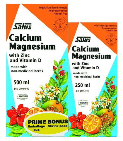 Calcium Magnesium- Salus® - Bonus Shrink Pack 500ml+250ml - Health & Body Nutrition