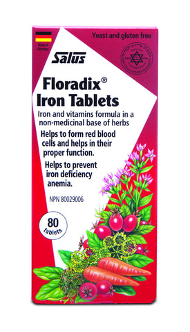 Floradix® Iron Tablets - 80tabs - Salus® - Health & Body Nutrition