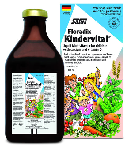Floradix Kindervital Liquid Multivitamin For Children - 500ml - Salus - Health & Body Nutrition