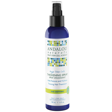 Thickening Spray 178ml - Argan Stem Cells - Andalou Naturals -