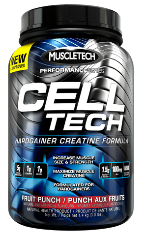 Cell-Tech - Blue Raspberry 3LB - MuscleTech - Health & Body Nutrition
