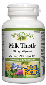 HerbalFactors® Milk Thistle 250 mg - 90caps - Natural factors - Health & Body Nutrition
