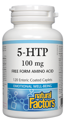 5-HTP 100 mg-120 caplets - Natural Factors - Health & Body Nutrition