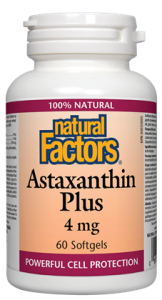 Astaxanthin Plus - 60gels 4mg - Natural Factors - Health & Body Nutrition