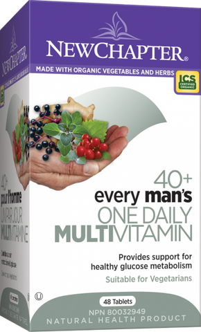 Every Man's One Daily 40+ Multivitamin - 72tabs - NewChapter - Health & Body Nutrition