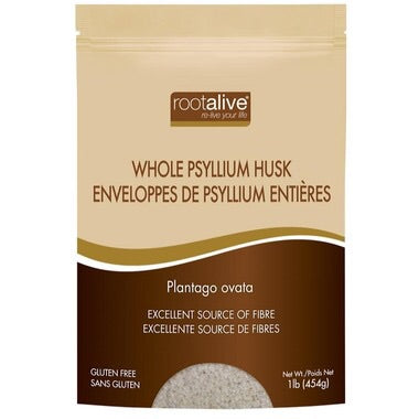 Psyllium Husk Whole - 1lb - Rootalive - Health & Body Nutrition