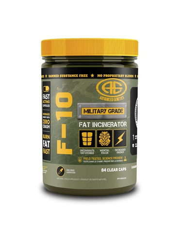 F-10 Fat Burner - 84caps - Advanced Genetics - Health & Body Nutrition