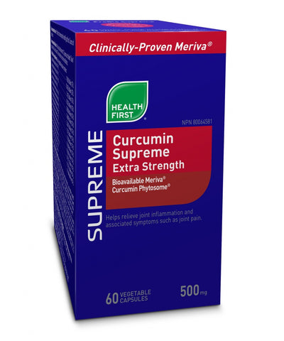 Curcumin Supreme Extra Strength 500mg - 120vcaps - Health First - Health & Body Nutrition