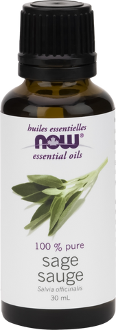 Sage Essential Oil - 30ml - Now - Health & Body Nutrition