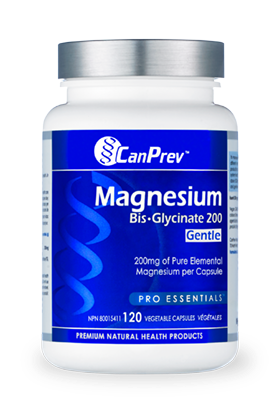 Magnesium Bis-Glycinate 200 Gentle - 120vcaps - CanPrev - Health & Body Nutrition