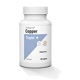 Copper Chelazome - 90caps - Trophic - Health & Body Nutrition