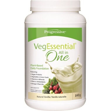 VegEssential All-In-One Protein Natural Vanilla - 840g - Progressive - Health & Body Nutrition