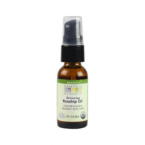 Organic Rosehip Skin Care Oil - 30ml - Aura Cacia - Health & Body Nutrition