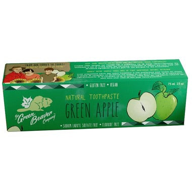 Natural Toothpaste - Green Apple - 75ml - Green Beaver - Health & Body Nutrition
