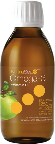 NutraSea Omega-3 + Vitamin D Crisp Apple - 200ml - Nature's Way - Health & Body Nutrition