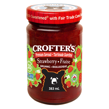 Organic Strawberry Premium Spread - 383g - Crofter's - Health & Body Nutrition