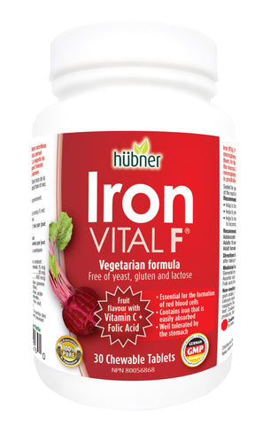Iron Vital F - 30chewables - Hubner - Health & Body Nutrition