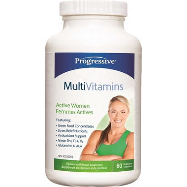 MultiVitamins Active Women - 60vcaps - Progressive - Health & Body Nutrition