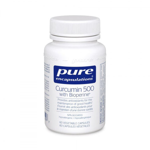Curcumin 500 with Bioperine - 60vcaps - Pure Encapsulations - Health & Body Nutrition