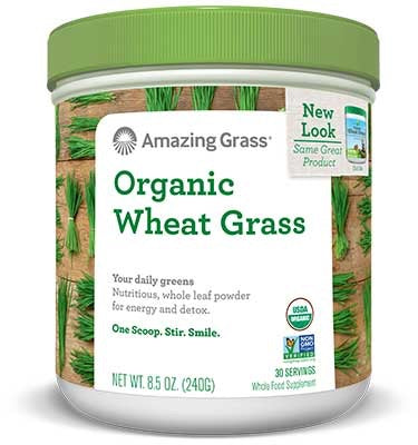 Organic Wheat Grass - 30 servings - Amazing Grass - Health & Body Nutrition