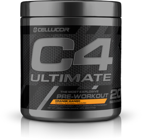 C4 Ultimate Pre-Workout - 20servings - Orange Mango - Cellucor - Health & Body Nutrition