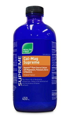 Cal-Mag Supreme + K2 - Lemon Lime Flavour - 450ml - Health First - Health & Body Nutrition