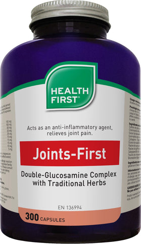 Joints-First Double-Glucosamine Complex - 300caps - Health First - Health & Body Nutrition