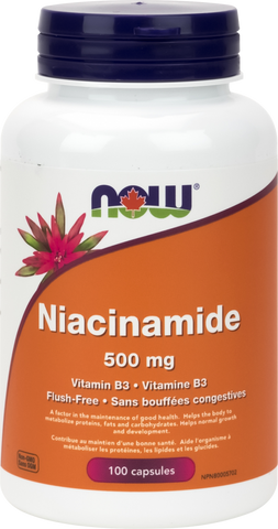 Niacinamide - 500mg - 100caps - Now - Health & Body Nutrition
