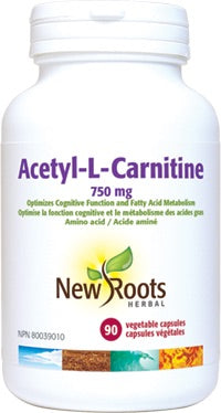 N-Acetyl-L-Carnitine - 750mg - 90vcaps - New Roots Herbal - Health & Body Nutrition