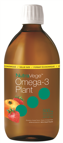 NutraVege Omega-3 Plant Strawberry Orange - 500ml - Nature's Way - Health & Body Nutrition