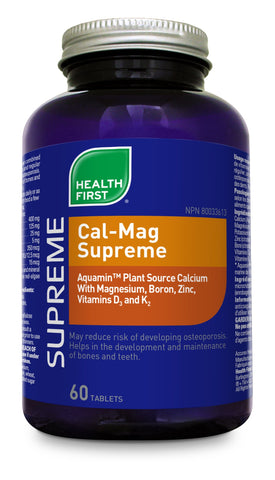 Cal-Mag Supreme - 60tabs - Health First - Health & Body Nutrition