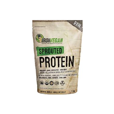 Sprouted Vegan Protein Natural Vanilla - 1kg - Iron Vegan - Health & Body Nutrition