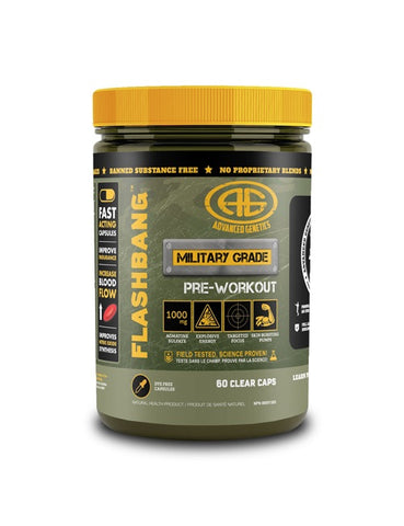 Flash Bang Pre-Workout - 60caps - Advanced Genetics - Health & Body Nutrition