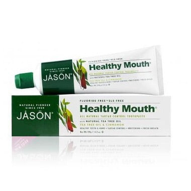 Healthy Mouth Fluoride Free Toothpaste - Tea Tree & Cinnamon - 119g - Jason - Health & Body Nutrition