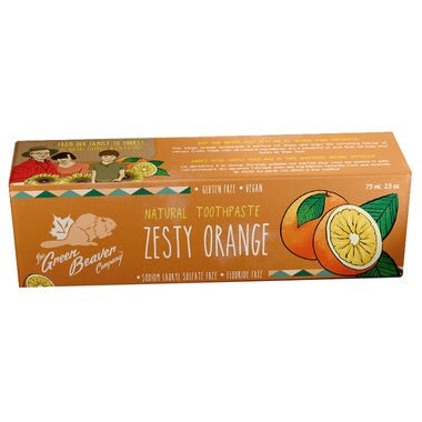 Natural Toothpaste - Zesty Orange - 75ml - Green Beaver - Health & Body Nutrition