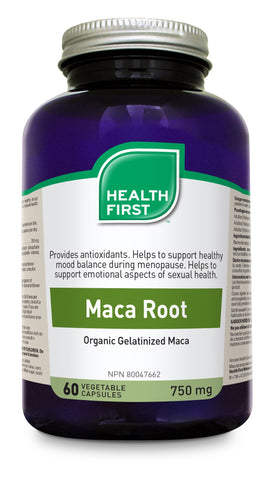 Maca Root 750mg - 60vcaps - Health First - Health & Body Nutrition