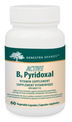 Active B6 Pyridoxal (formerly Pyridoxal-5-Phosphate) - 60caps - Genestra - Health & Body Nutrition