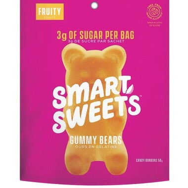 Fruity Gummy Bears - 50g - SmartSweets - Health & Body Nutrition