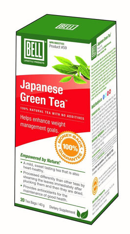 Japanese Green Tea - 20bags - Bell - Health & Body Nutrition