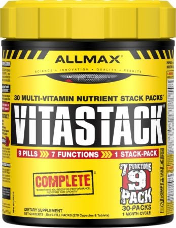 Vitastack Multivitamin Pack - 30Packs- Allmax Nutrition - Health & Body Nutrition