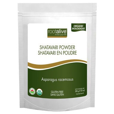 Organic Shatavari Powder - 200g - Rootalive - Health & Body Nutrition