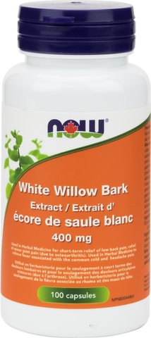White Willow Bark - 100caps - Now - Health & Body Nutrition