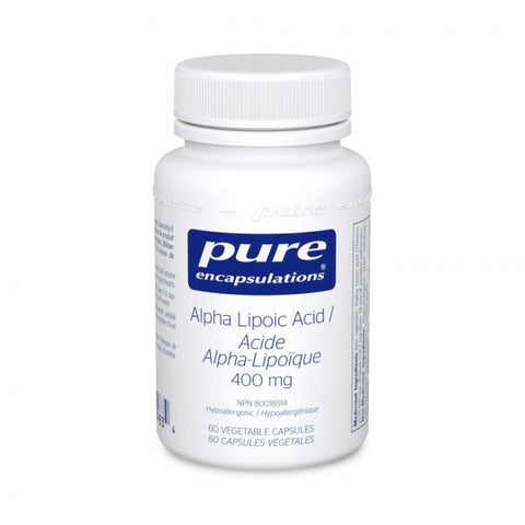 Alpha Lipoic Acid 400 mg - 60vcaps - Pure Encapsulations - Health & Body Nutrition