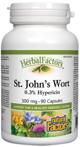Herbal Factors St. John's Wort - 300mg - 90caps - Natural Factors - Health & Body Nutrition